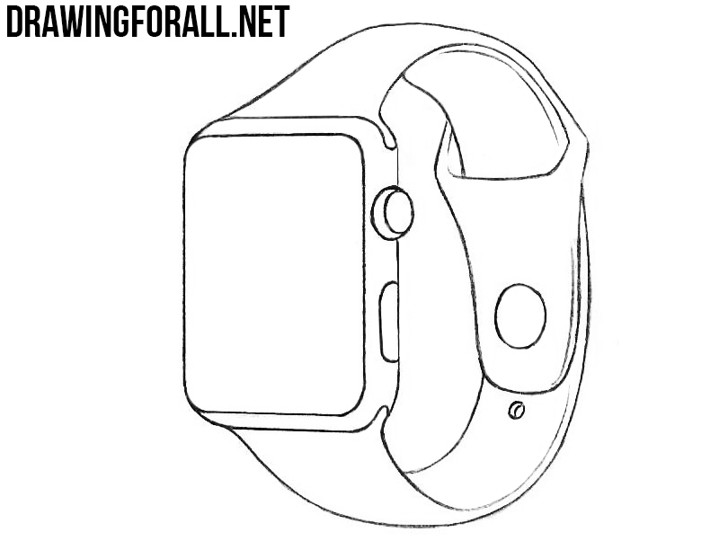 How To Draw An Apple Watch Drawingforall Net