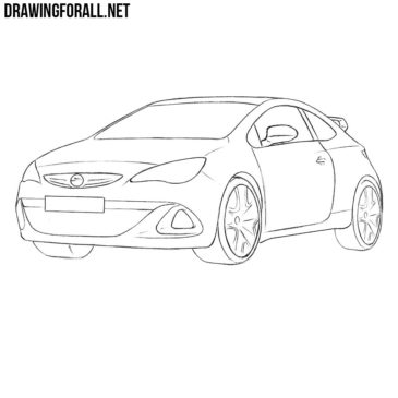 How to Draw an Opel Astra OPC