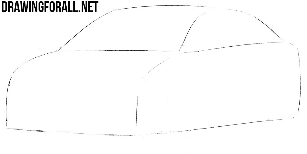 how to draw a mitsubishi lancer 10