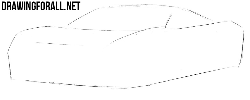 how to draw a new ford supercar
