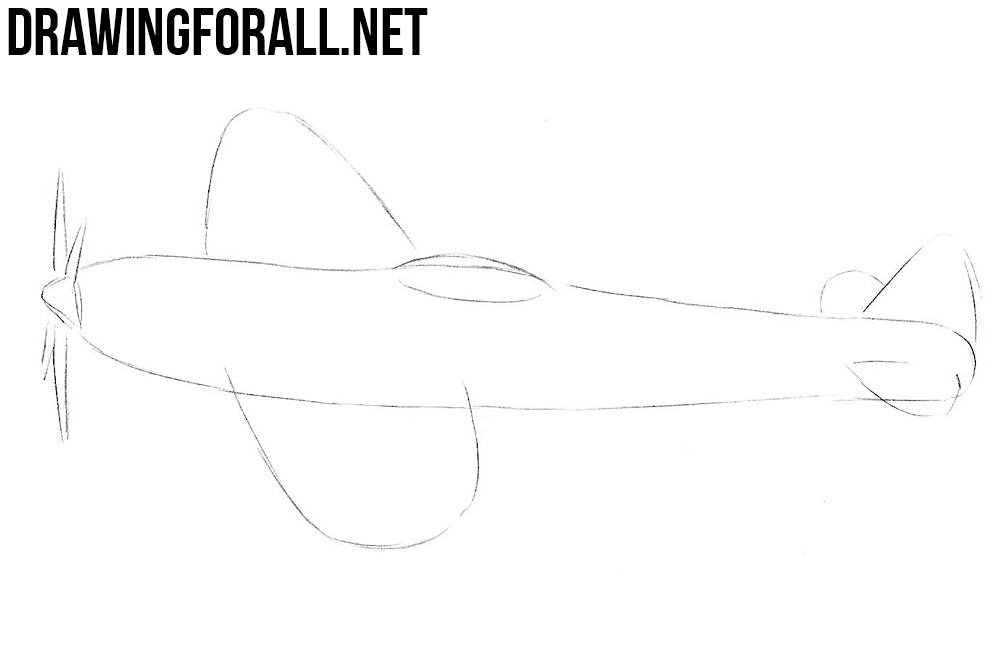 How To Draw A Ww2 Fighter Plane Drawingforall Net