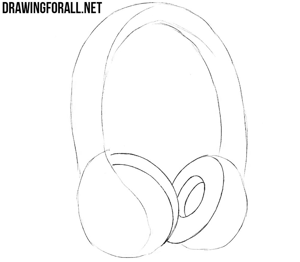 how to draw beats headphones