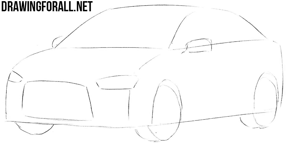 learn how to draw a mitsubishi lancer