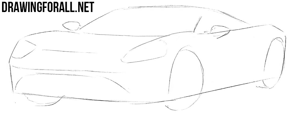 learn to draw a Ford GT