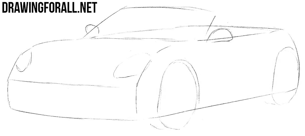 learn to draw a porsche boxster