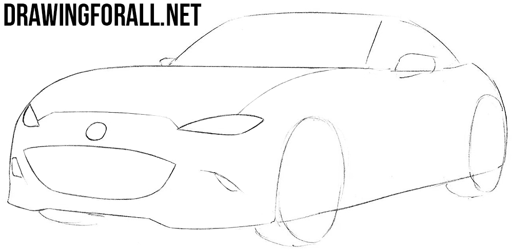 how to draw a Miata sports car