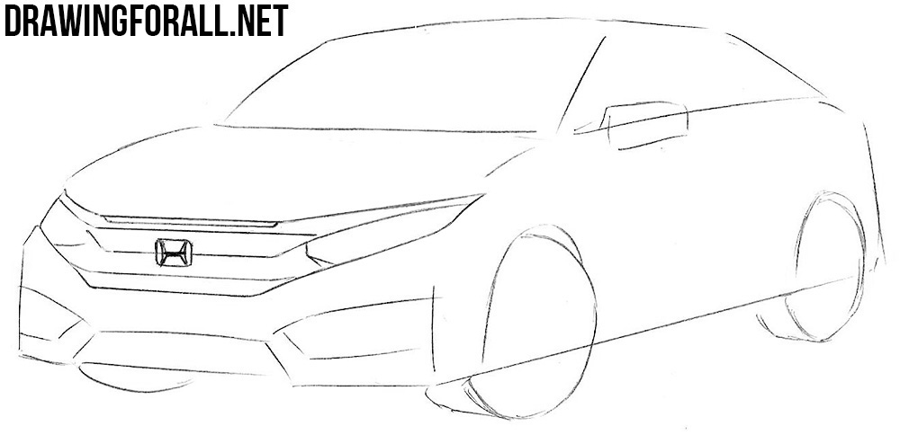 how to draw a cool honda civic