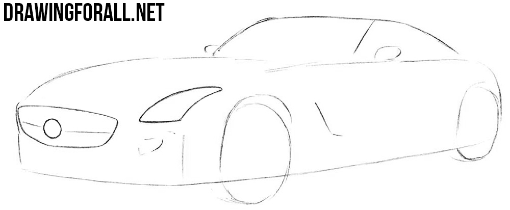 how to draw a mercedes sls