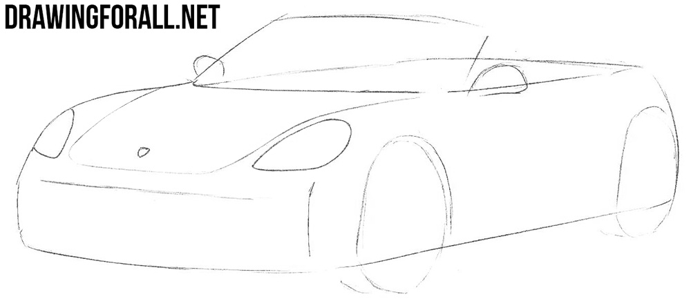 how to draw a porsche boxster 718