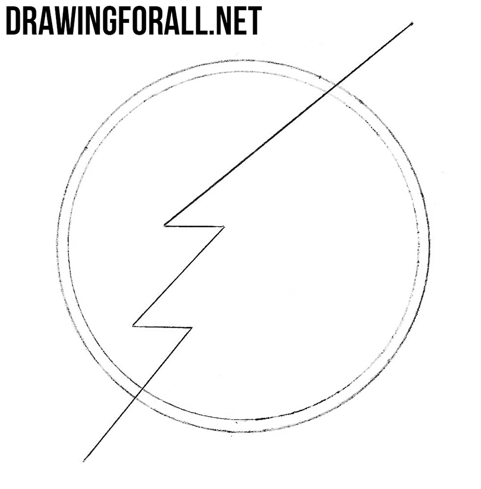 how to draw flash sign