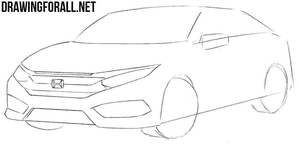 learn how to draw a honda civic step by step