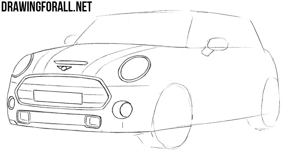 learn to draw a mini cooper