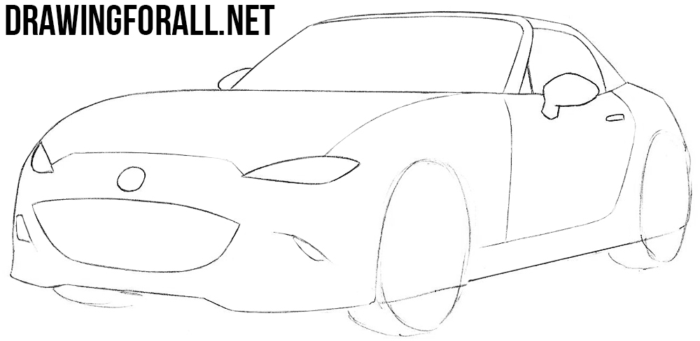 how to draw a Mazda