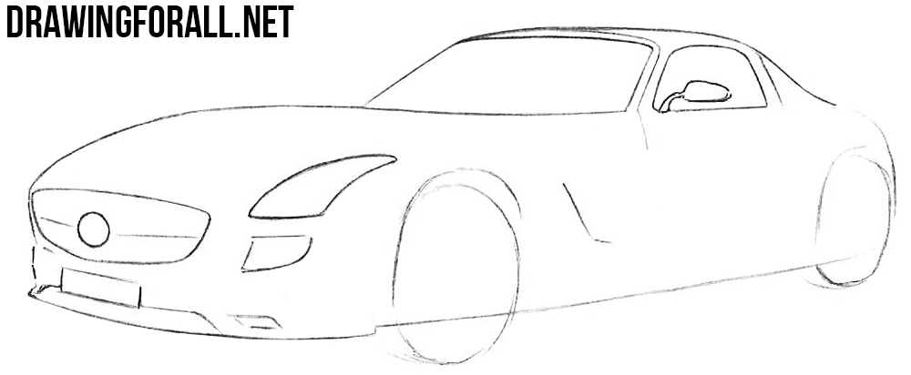 learn to draw a mercedes electric sls