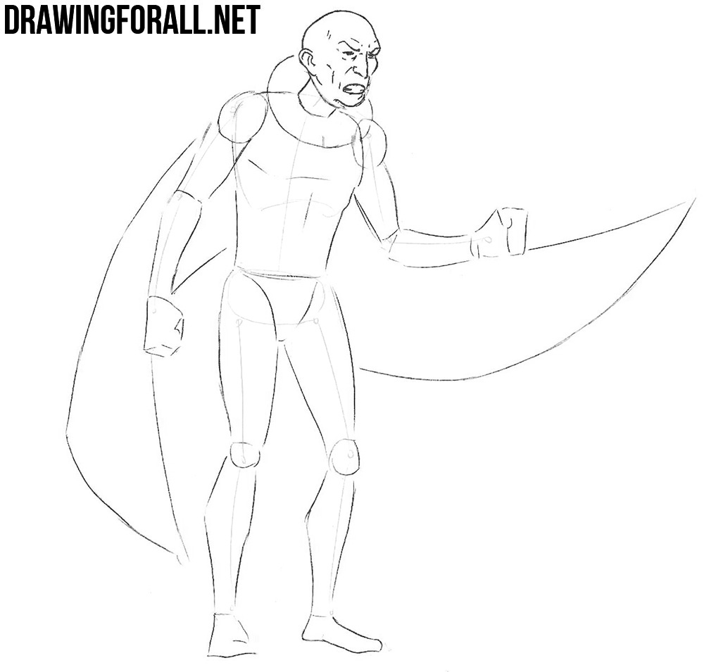 vulture from marvel drawing tutorial