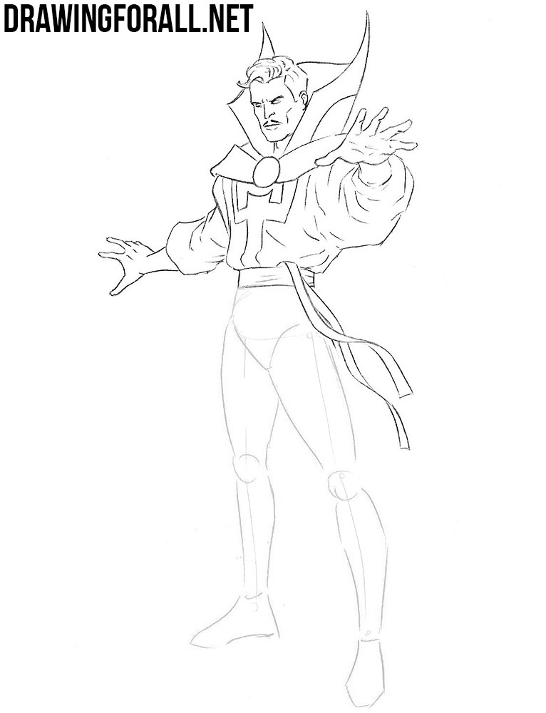 Doctor Strange drawing tutorial