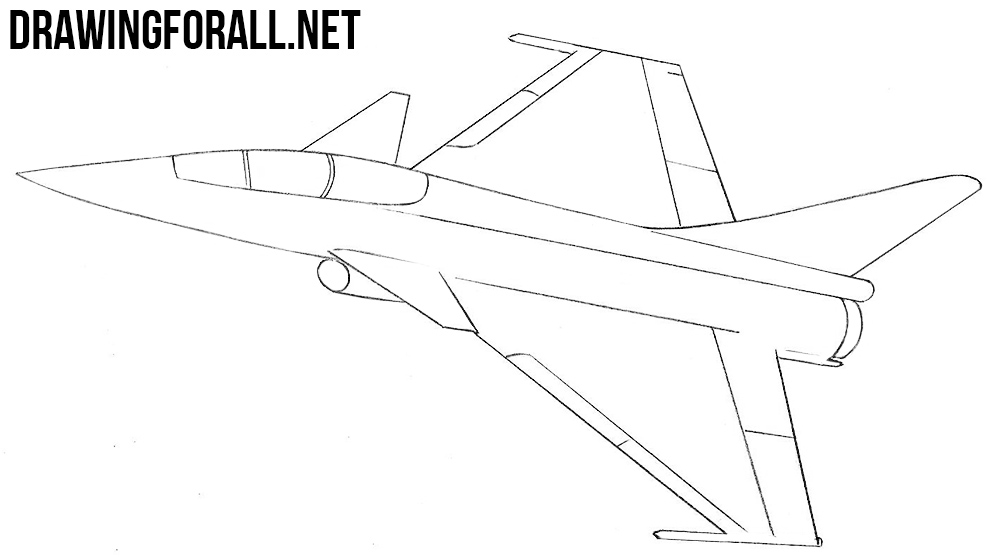 Line Drawing Jet : How to draw a fighter jet drawingforall