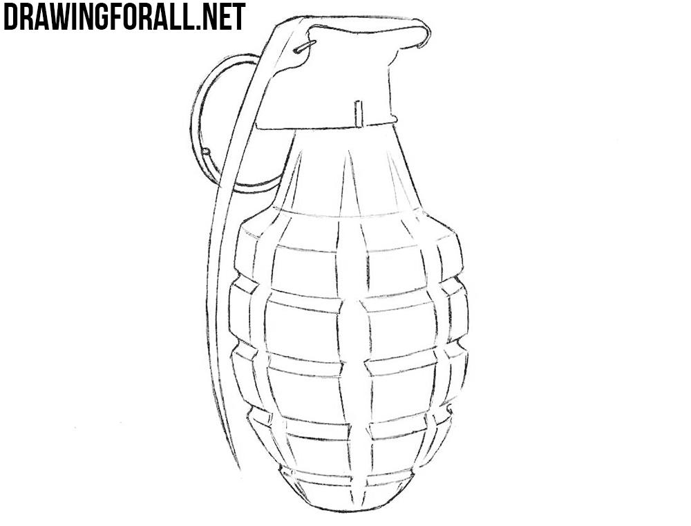 grenade drawing