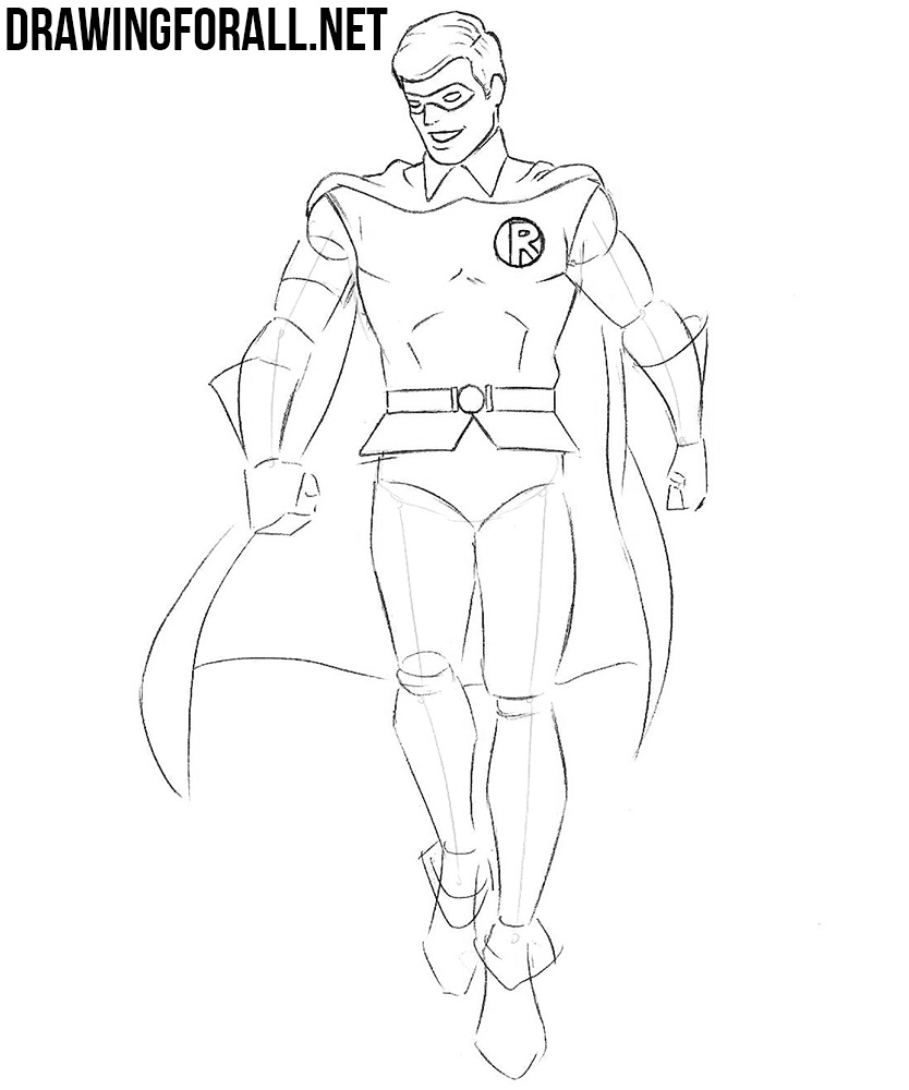 how to draw Robin from dc
