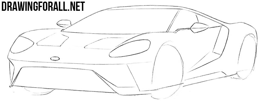 how to draw a ford super car