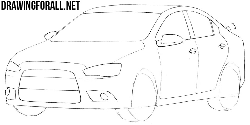 how to draw a japan car