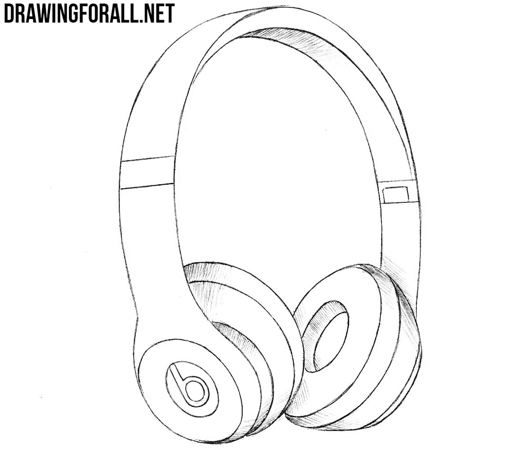 Line Art Headphones : How to draw beats headphones drawingforall