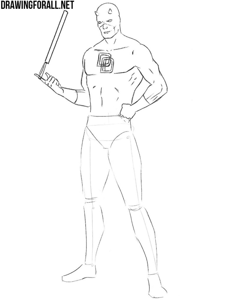 learn how to draw Daredevil