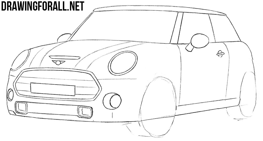 learn how to draw a mini cooper