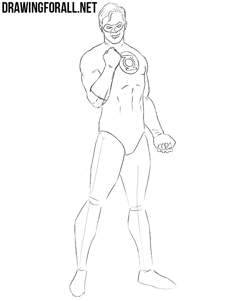 learn to draw Green Lantern