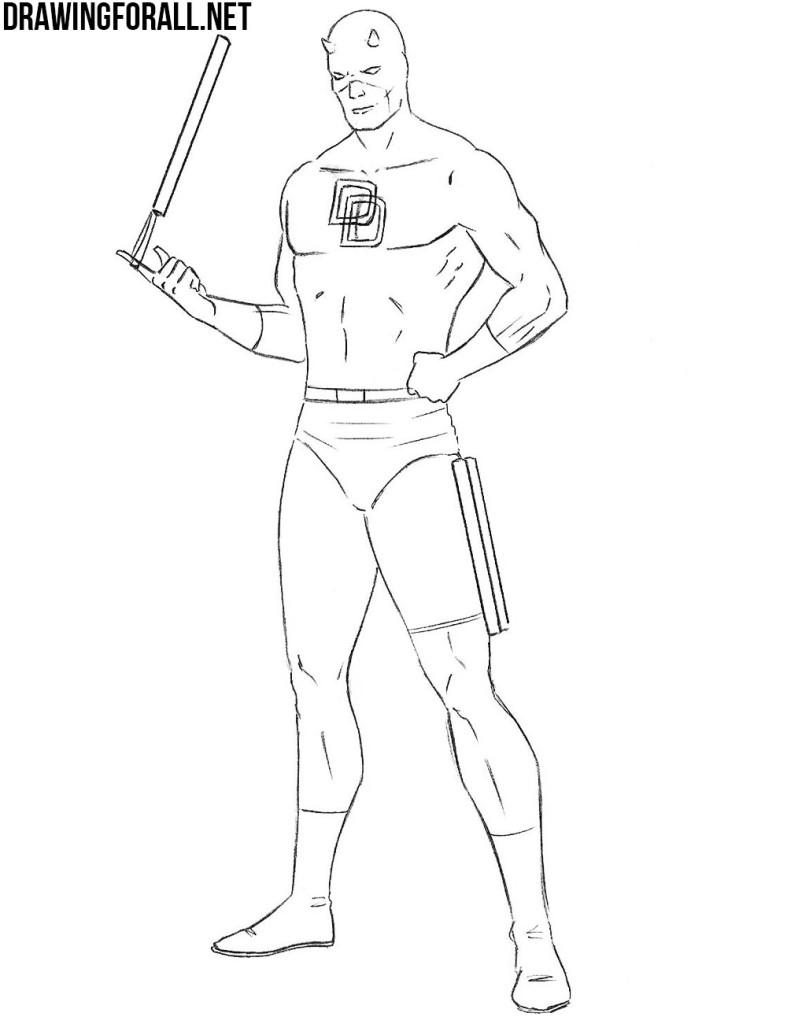 Daredevil drawing tutorial