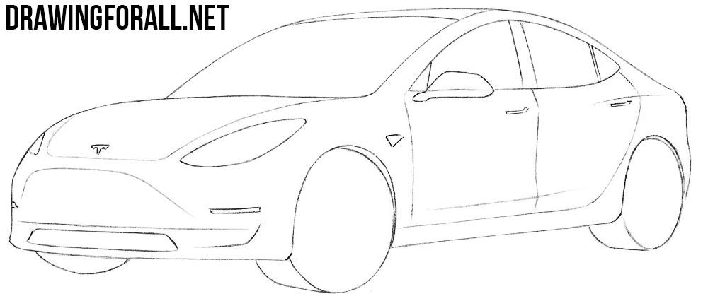 How to Draw a Tesla