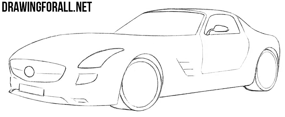 mercedes electric sls drawing