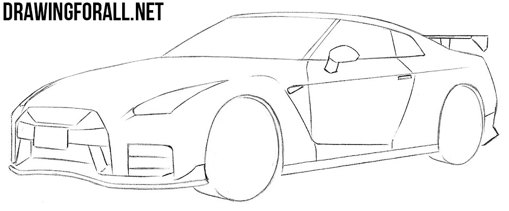 nissan gtr drawing