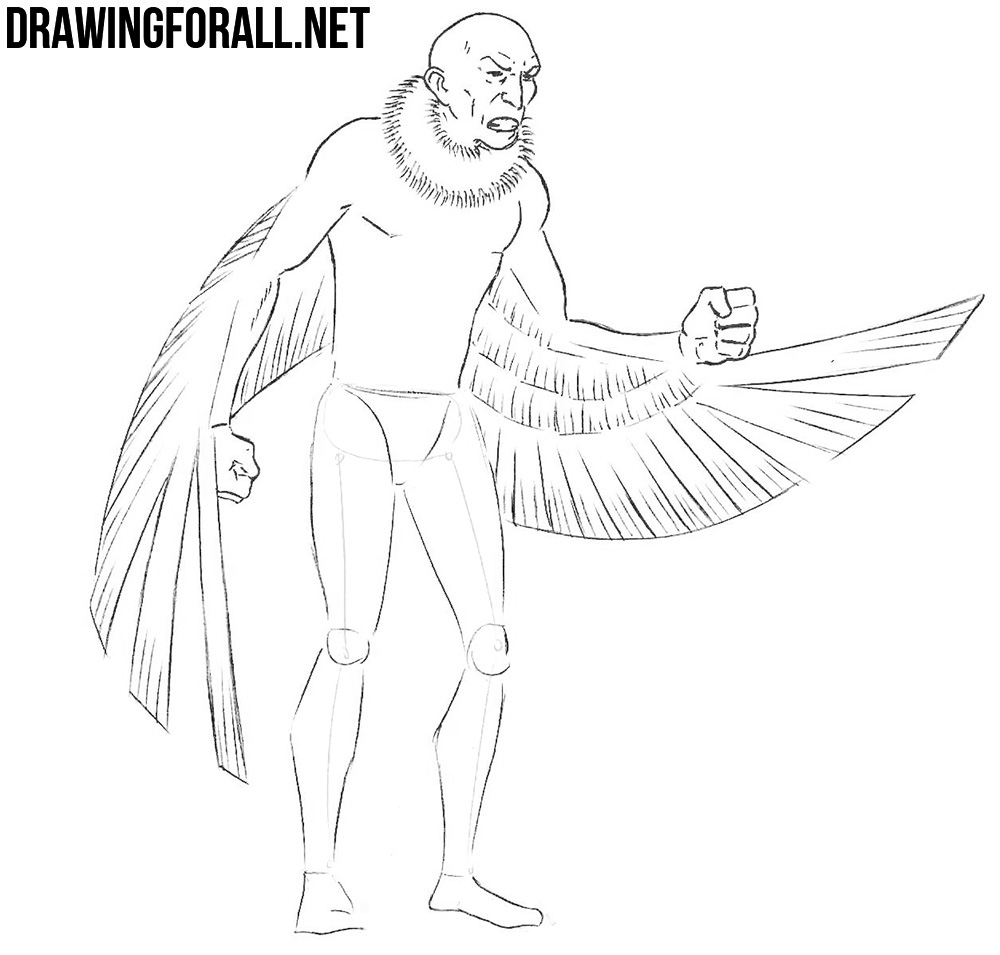how to draw vulture from spiderman