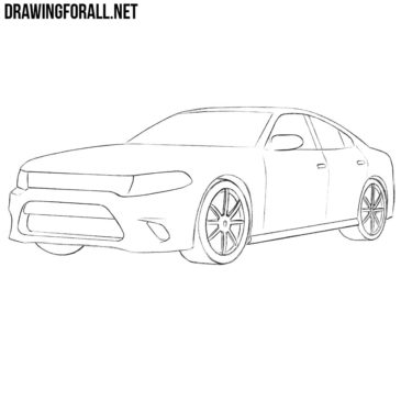 How to Draw a Dodge Charger Step by Step