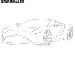 How to Draw a Ford GT
