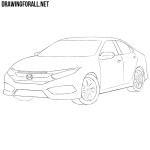 How to Draw a Honda Civic