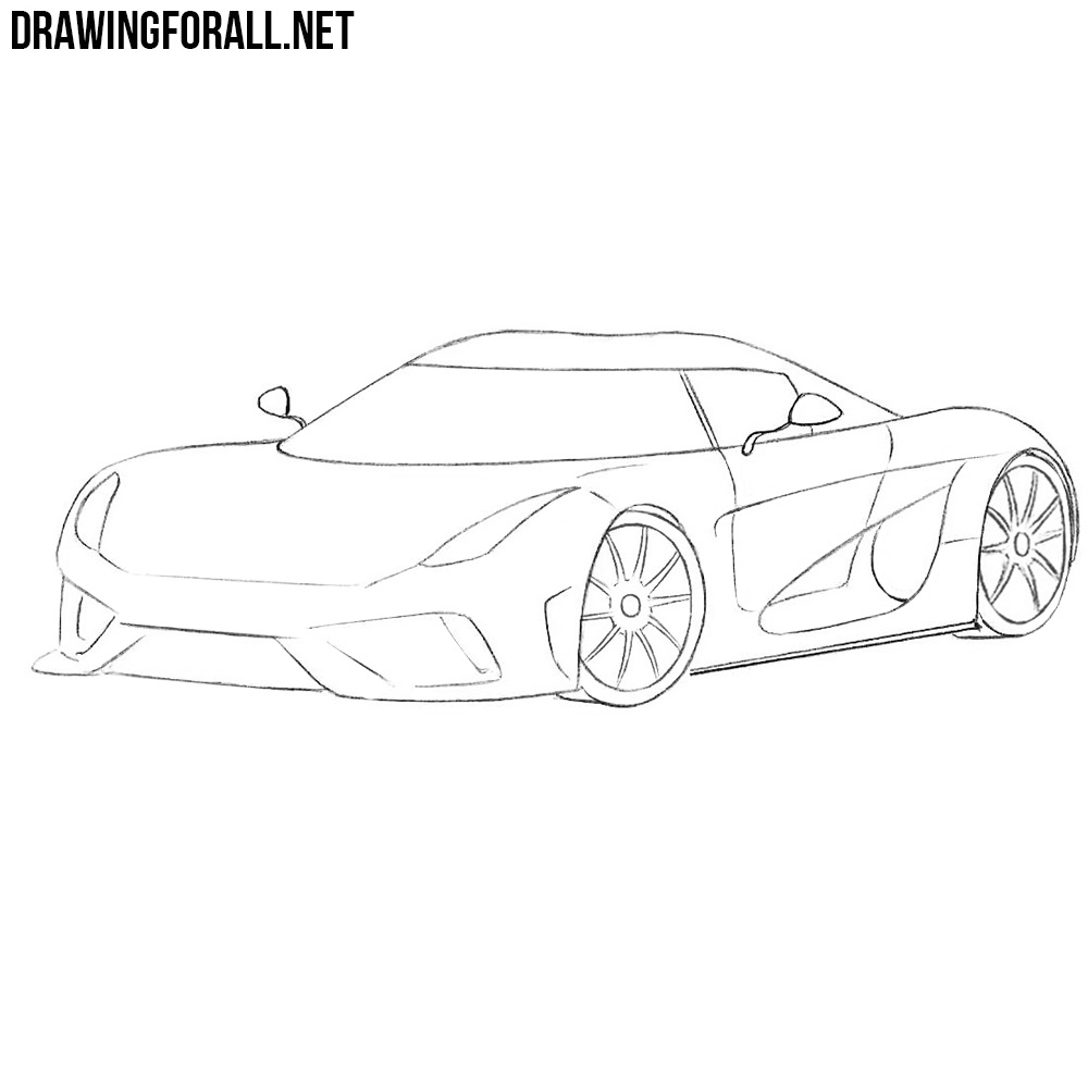 How to Draw a Koenigsegg Regera | DrawingForAll.net
