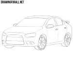 How to Draw a Mitsubishi Lancer