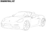 How to Draw a Porsche Boxster