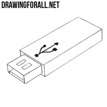 How to Draw a USB Flash Drive