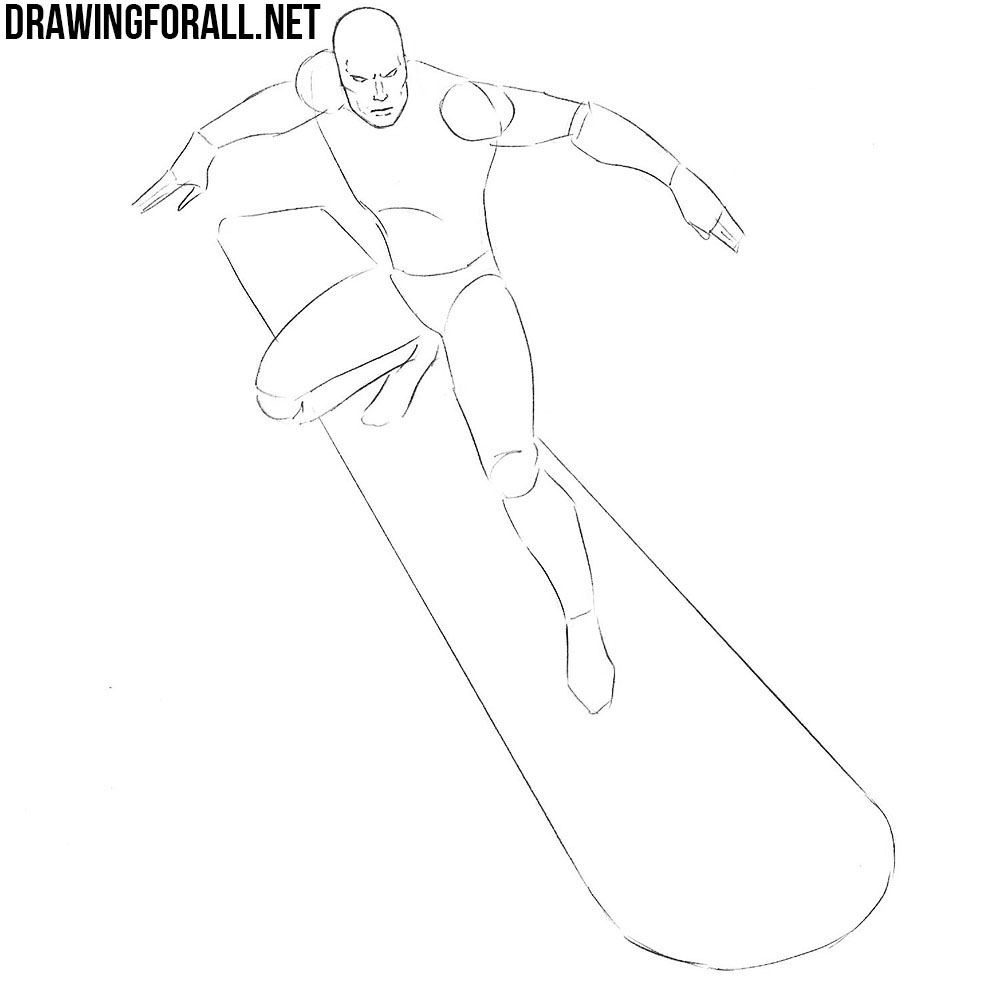 learn how to draw a silver surfer