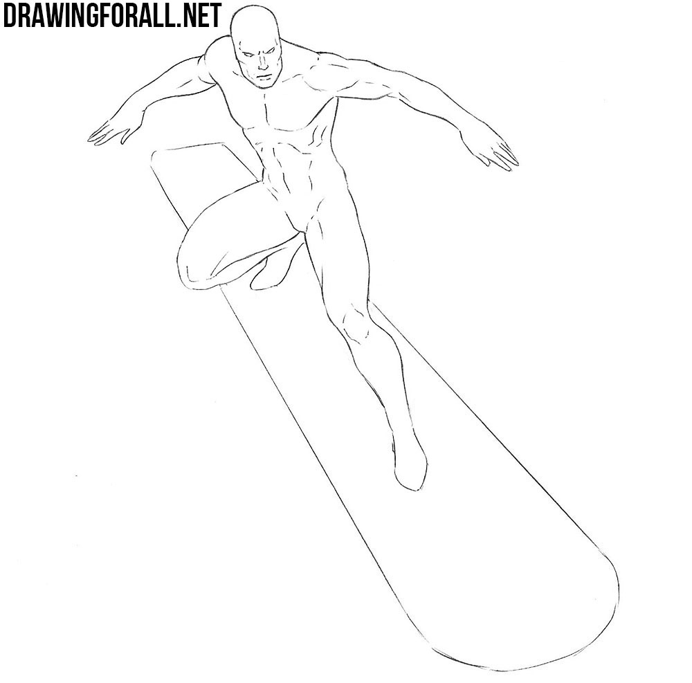 learn how to draw silver surfer
