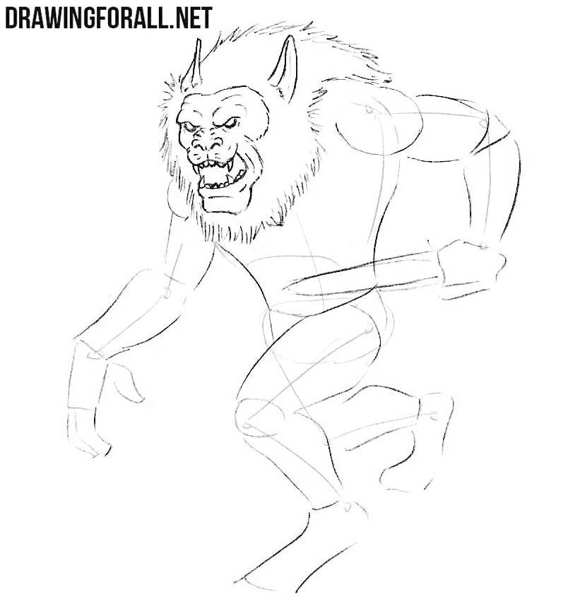 How to draw Gibberling from dungeons and dragons