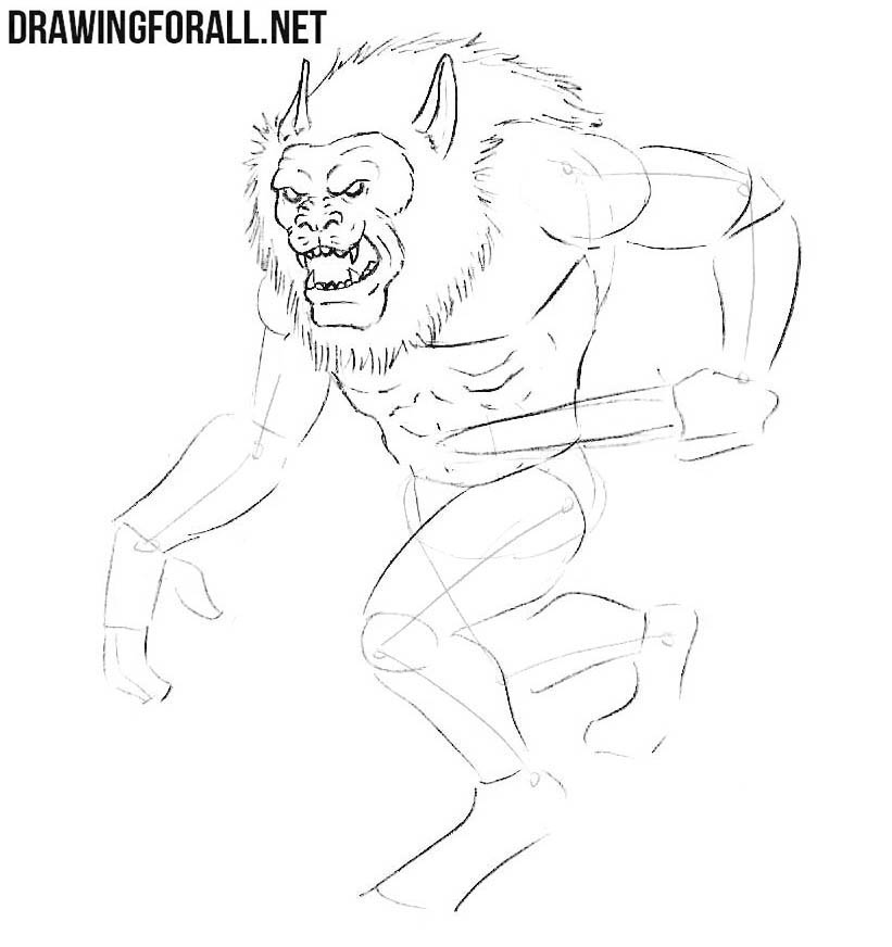 How to draw Gibberling from from dnd