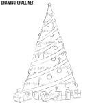 How to Draw a Simple Christmas Tree