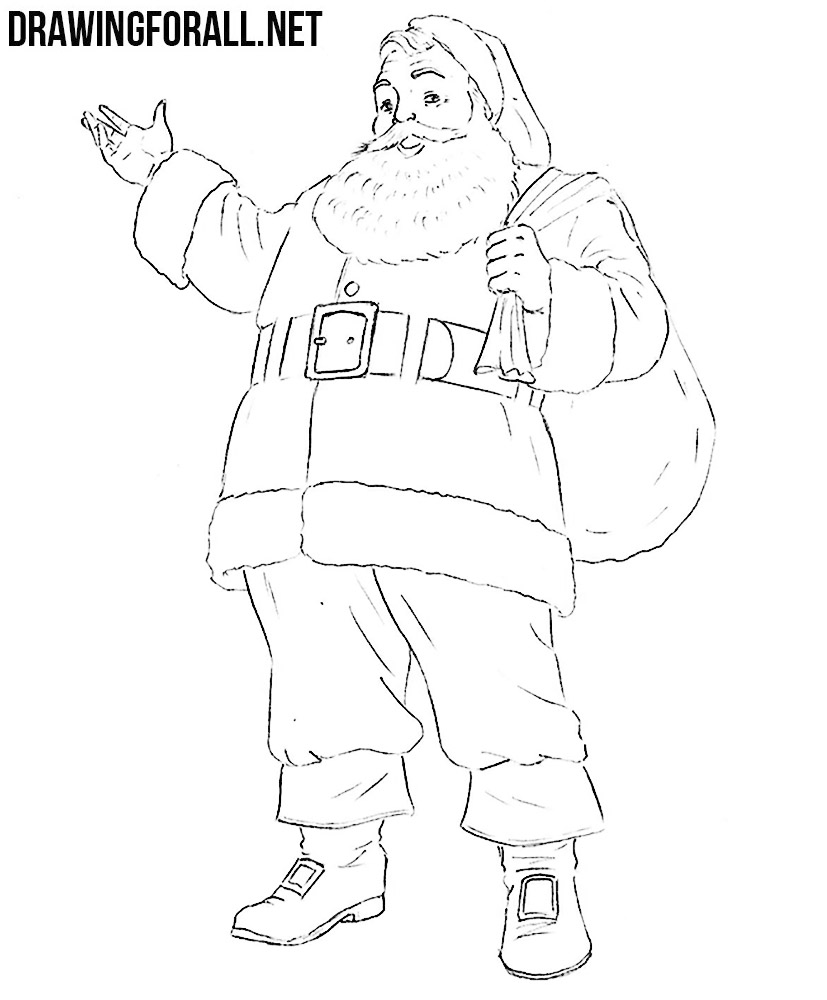 santa claus drawing for kids