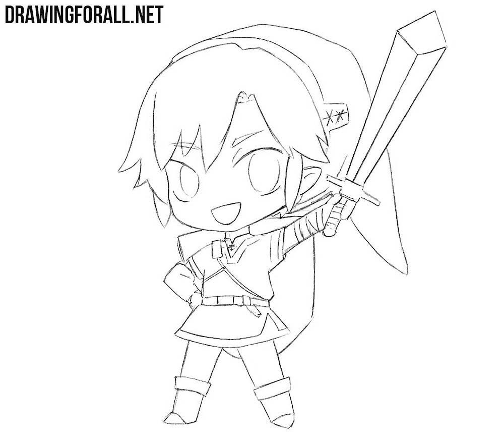Zelda Line Drawing : How to draw link from legend of zelda drawingforall