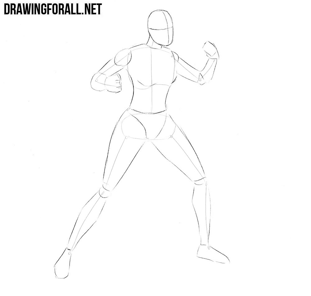 how to draw X-23 from x men