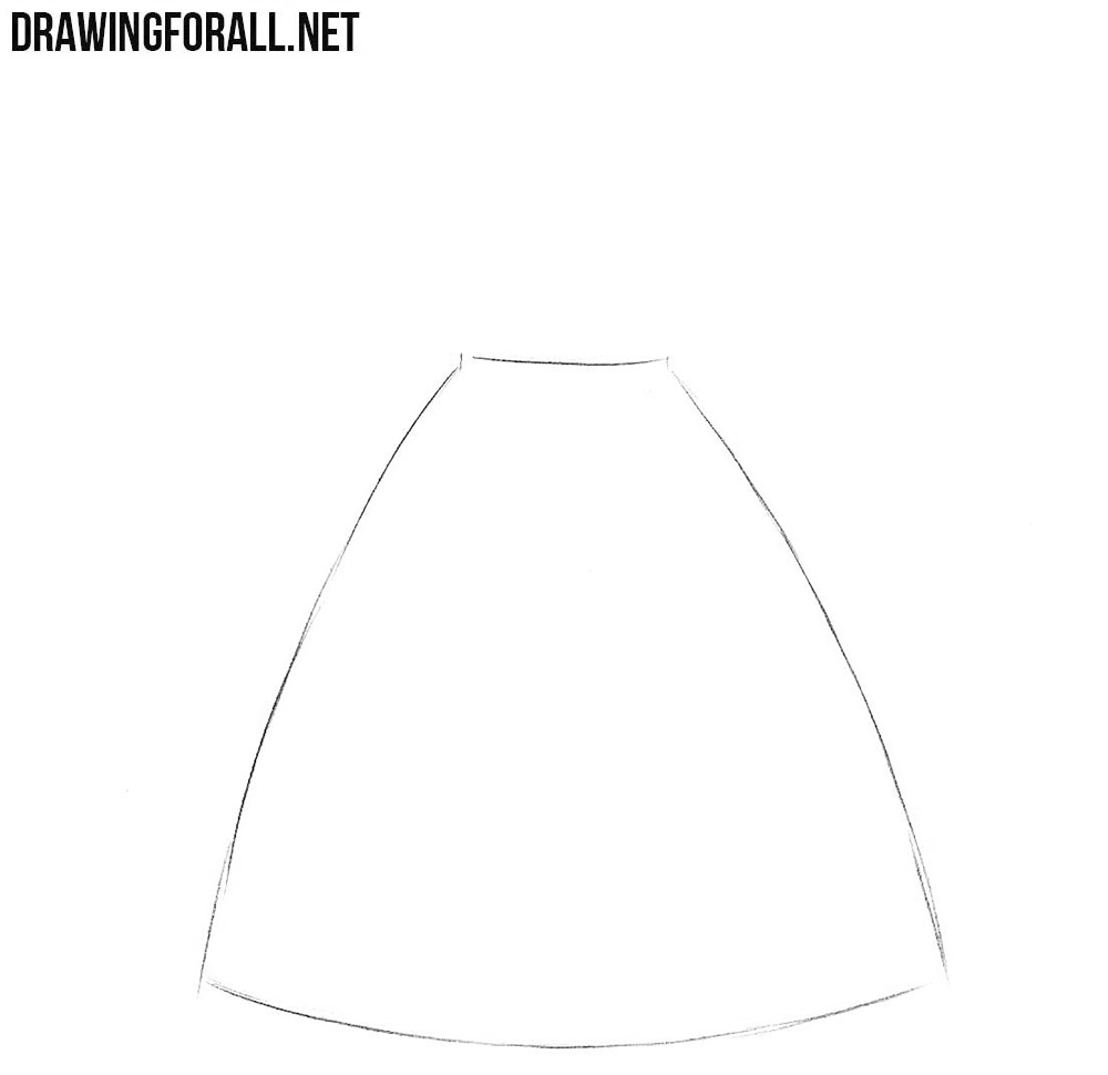 How To Draw A Dress Step By For